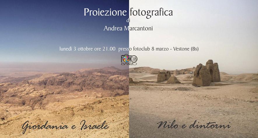 Proiezione fotografica di Andrea Marcantoni lunedì  03 Ottobre 2016
