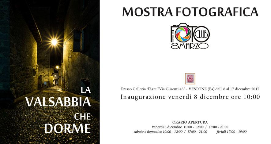 Mostra Fotoclub8Marzo dal 8 al 17 Dicembre